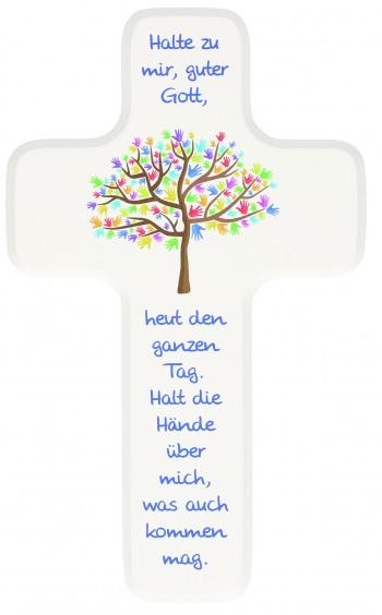 """Holzkreuz """"Halte zu mir"""""""