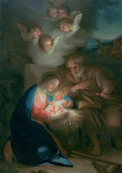 """Weihnachts-Doppelkarte """"Die Geburt Christi"""""""