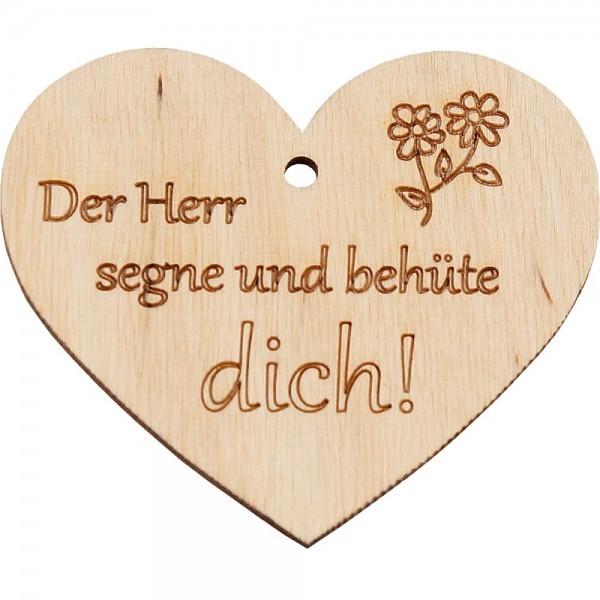 """Holzherz """"Der Herr segne und behüte dich!"""""""