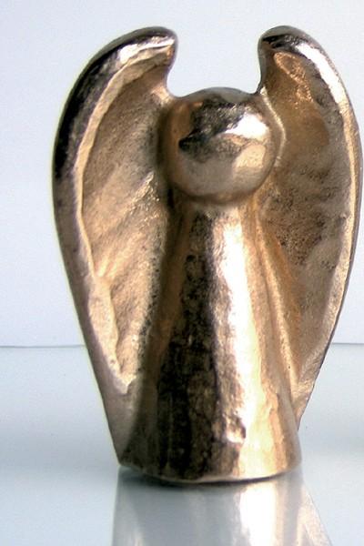 Ärgere dich nicht - Engel groß (Bronze)