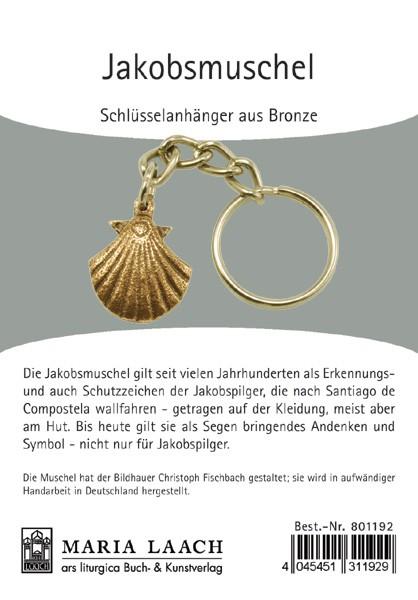 Schlüsselanhänger Jakobsmuschel klein (Bronze)