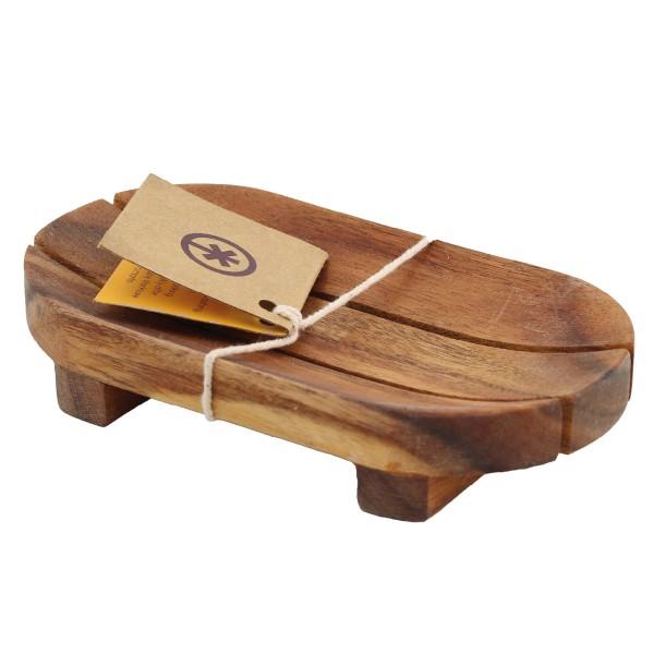 Seifenschälchen aus Arkazienholz