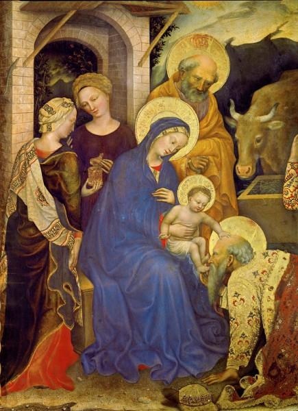 """Weihnachts-Doppelkarte """"Anbetung der Könige"""""""