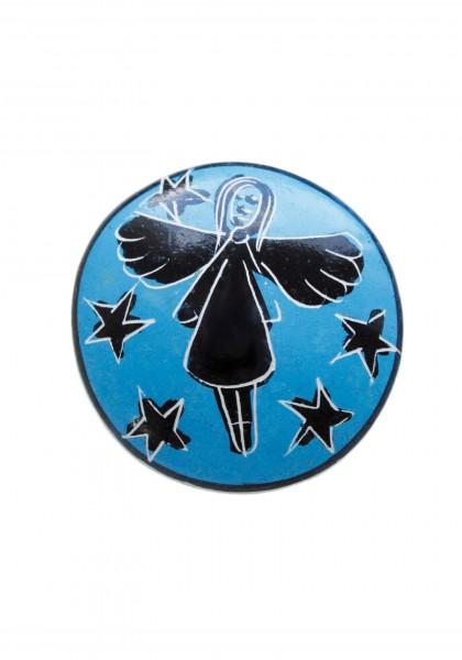 Speckstein-Handschmeichler Schutzengel klein blau