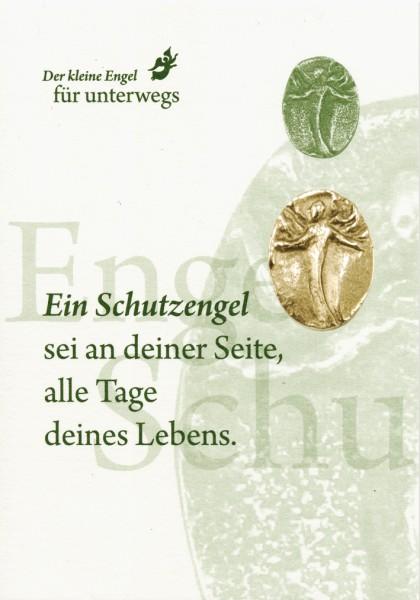 """Engelplakette """"Schutzengel"""" Silber-Bronze"""