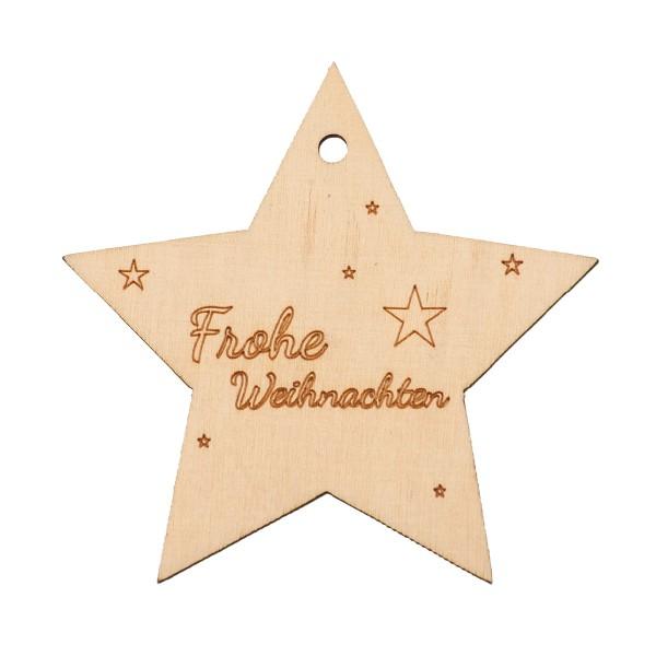 """Holzstern """"Frohe Weihnachten"""""""