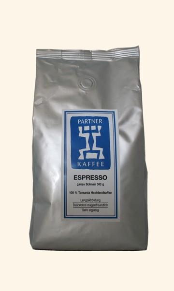 Kaffee Espresso Tansania, 500g ganze Bohnen