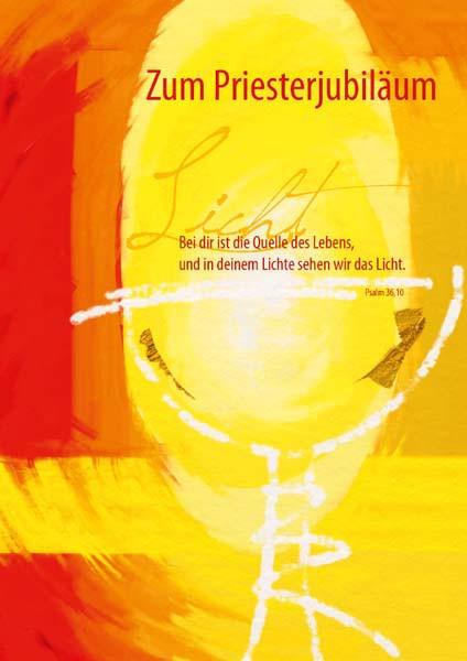 """Karte zum Priesterjubiläum """"In deinem Lichte stehen"""""""