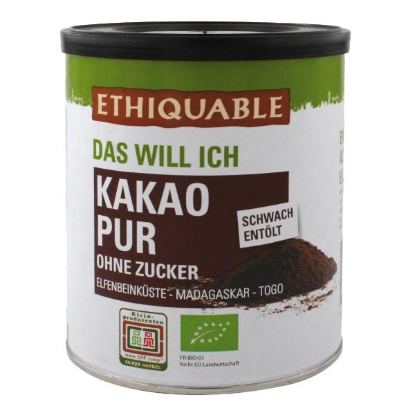 Kakao pur - ohne Zucker