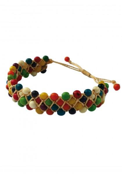 Buntes-Tagua-Nuss-Armband