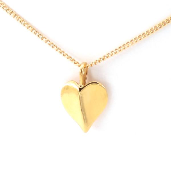 Schmuckanhänger Herzblatt, vergoldet