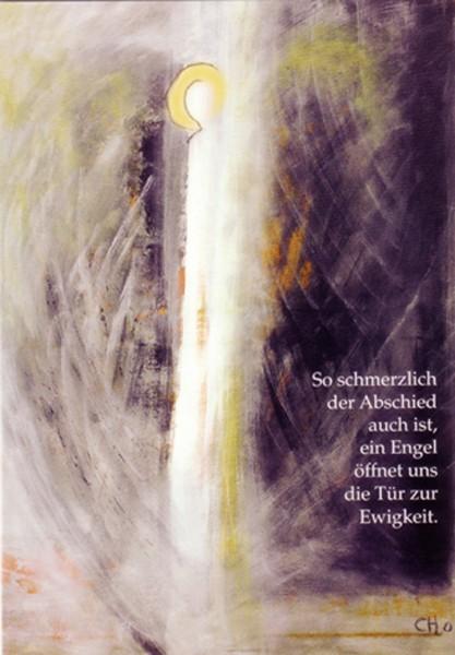 "Kondolenz-Karte ""Engel der Hoffnung"""