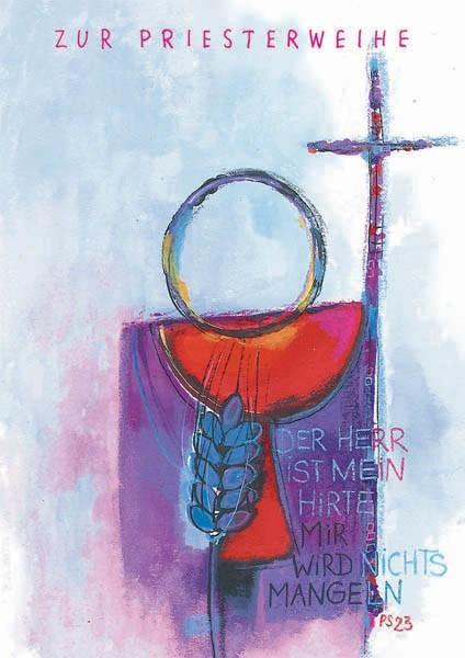 """Glückwunschkarte zur Priesterweihe """"Hirt und Herde"""""""