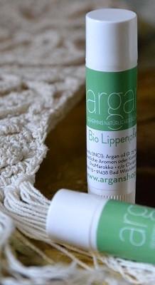Argan-Lippenbalsam mit Bienenwachs