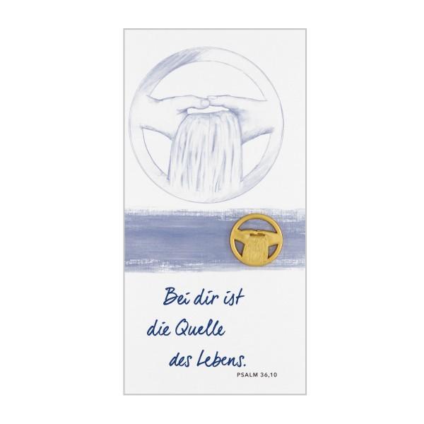 """Plakette """"Quelle des Lebens"""""""