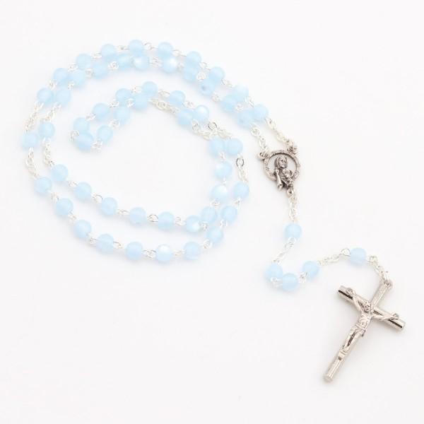Rosenkranz - hellblaue Perlen