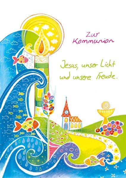 """Kommunionkarte """"Jesus, unser Licht"""""""