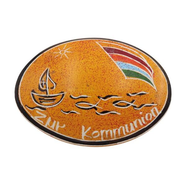 """Handschmeichler """"Zur Kommunion"""" in orange"""