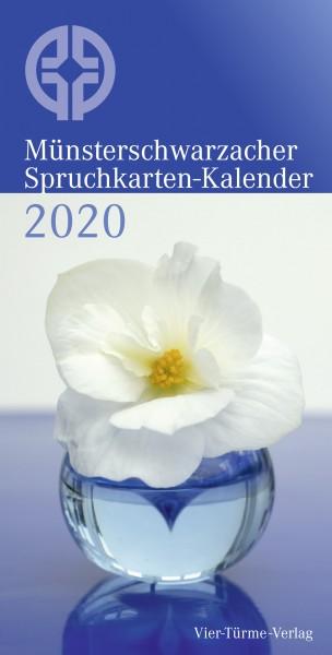 Münsterschwarzacher Spruchkarten-Kalender 2020