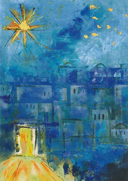 """Weihnachts-Doppelkarte """"Werde Licht"""""""