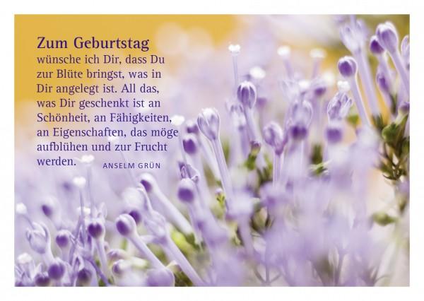 """Glückwunschkarte """"Blüte"""" mit Glückwunsch von Anselm Grün"""