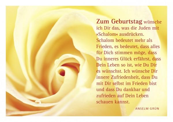 """Glückwunschkarte """"Rose"""" mit Glückwunsch von Anselm Grün"""